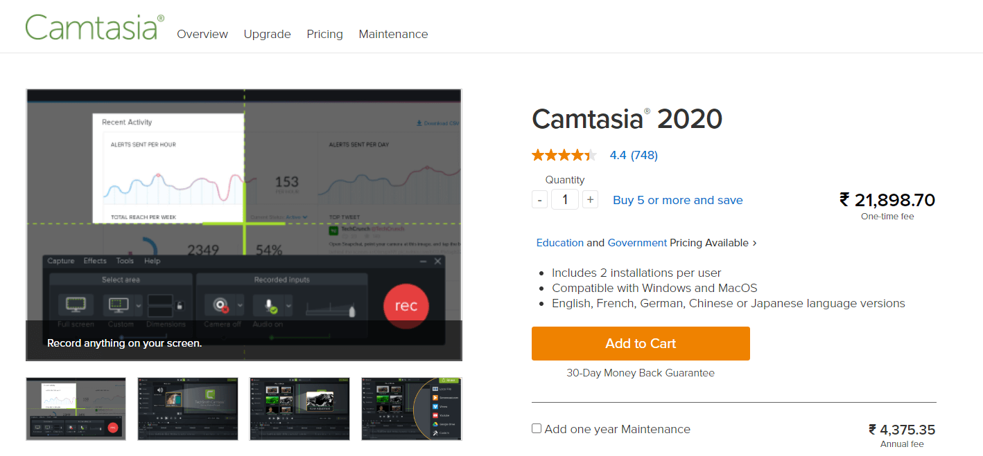 Camtasia - Free Screen Recorder Software