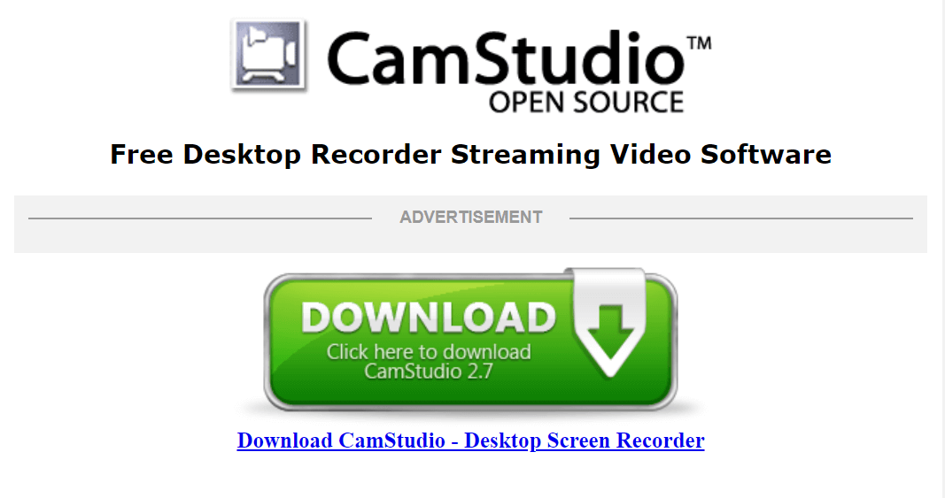 CamStudio - Best Free Screen Recorder Software