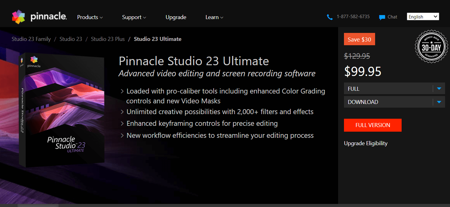 Pinnacle Studio 22 - Video Editing Software