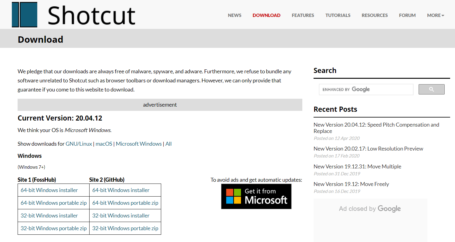 ShotCut - Video Editing Software in Windows