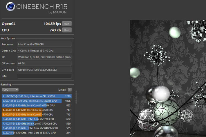 CineBench - CPU Benchmark Software