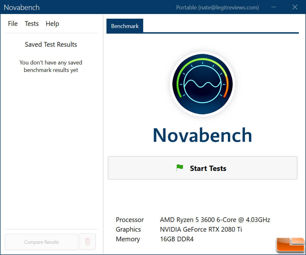 Novabench - CPU Benchmark Software For Windows