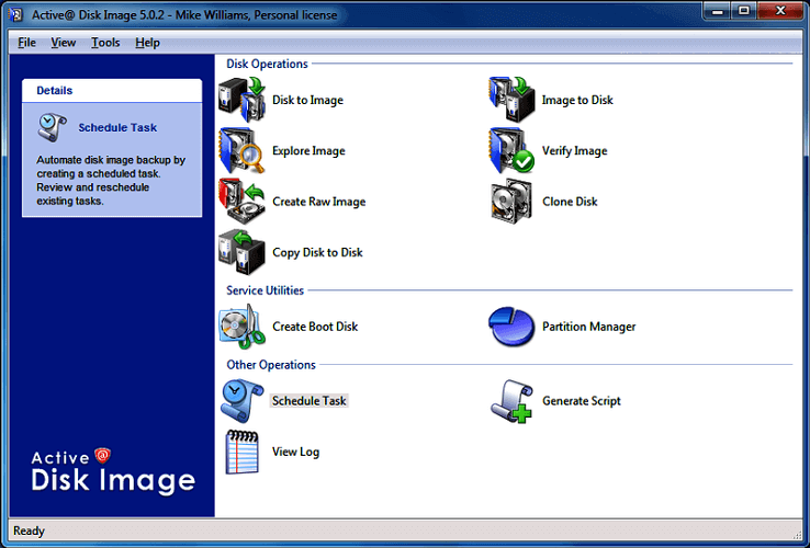 Active Disk Image - Best Free Disk Cloning Software