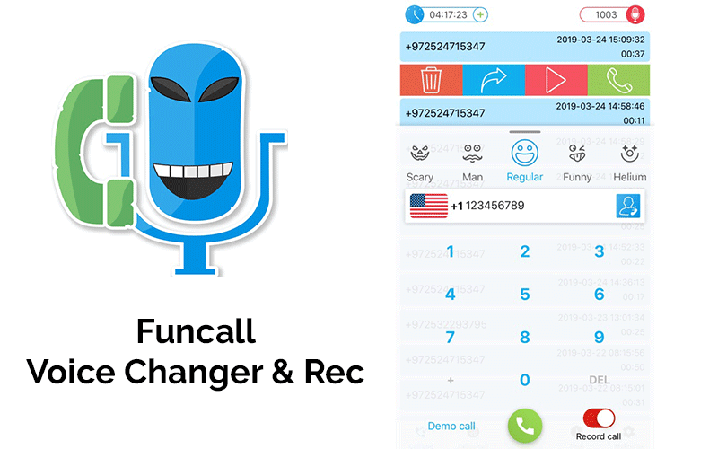 Funcall - Simple voice changer app