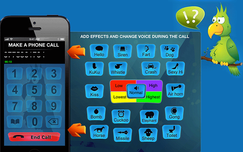 IntCall - Call voice changer app male to female