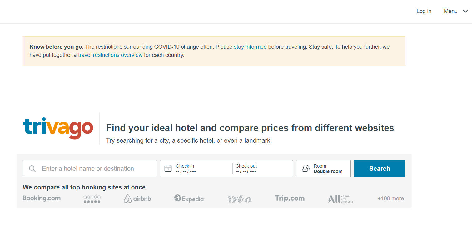Trivago - Free Travel Booking Site