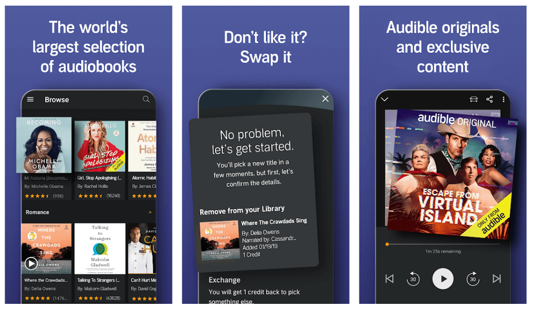 Audible - Best Reading Apps