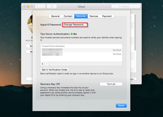 Reset Apple ID Password on a Mac