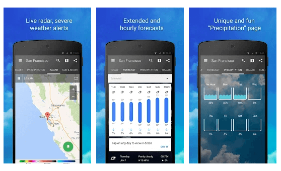 1Weather - Best Free Android Weather App