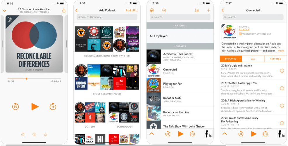 Overcast - Best iOS Podcast App