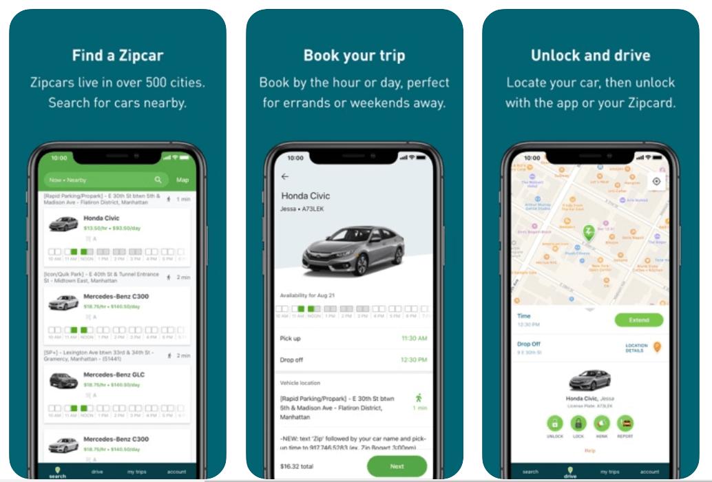 Zipcar - Best Car Rental App