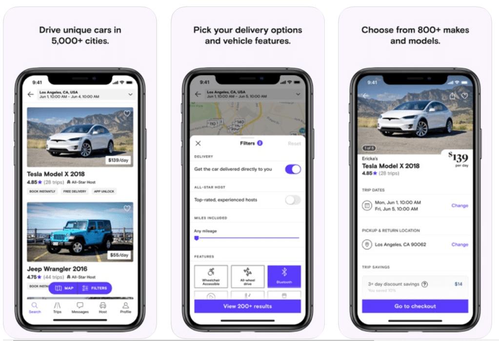 Turo - Best Android Car Rental App
