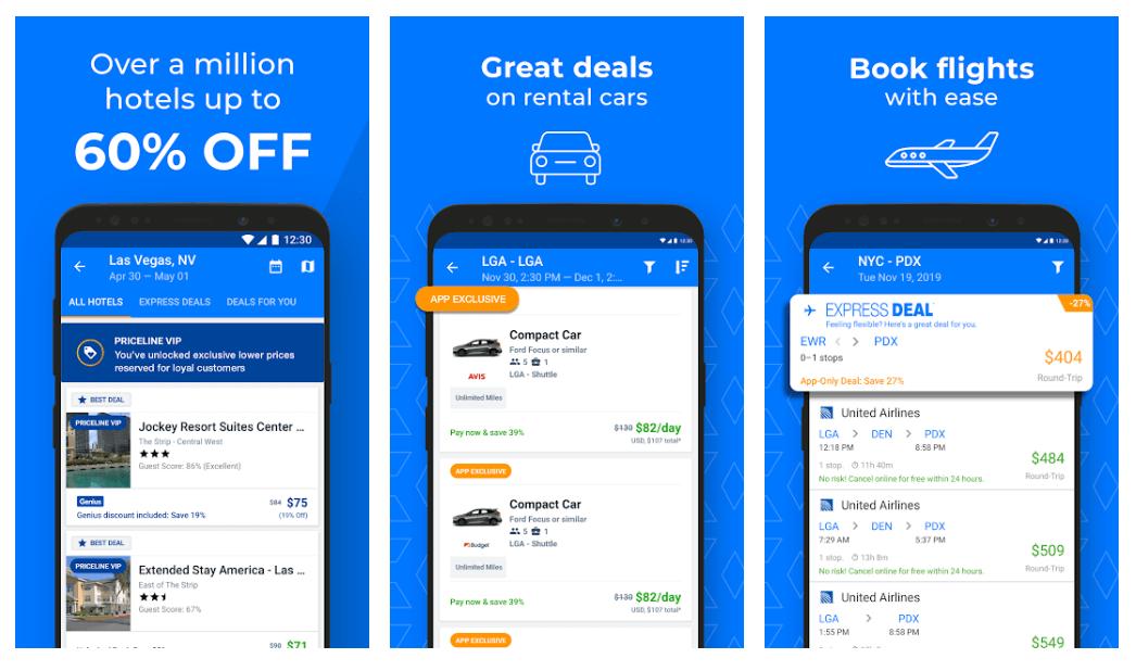 Priceline - Best Car Rental App For Android Smartphones