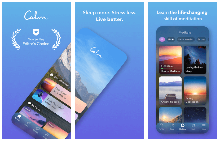 Calm - Best Meditation App For Android & iOS