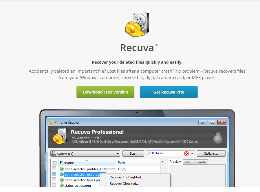 Recuva - Best Data Recovery Software
