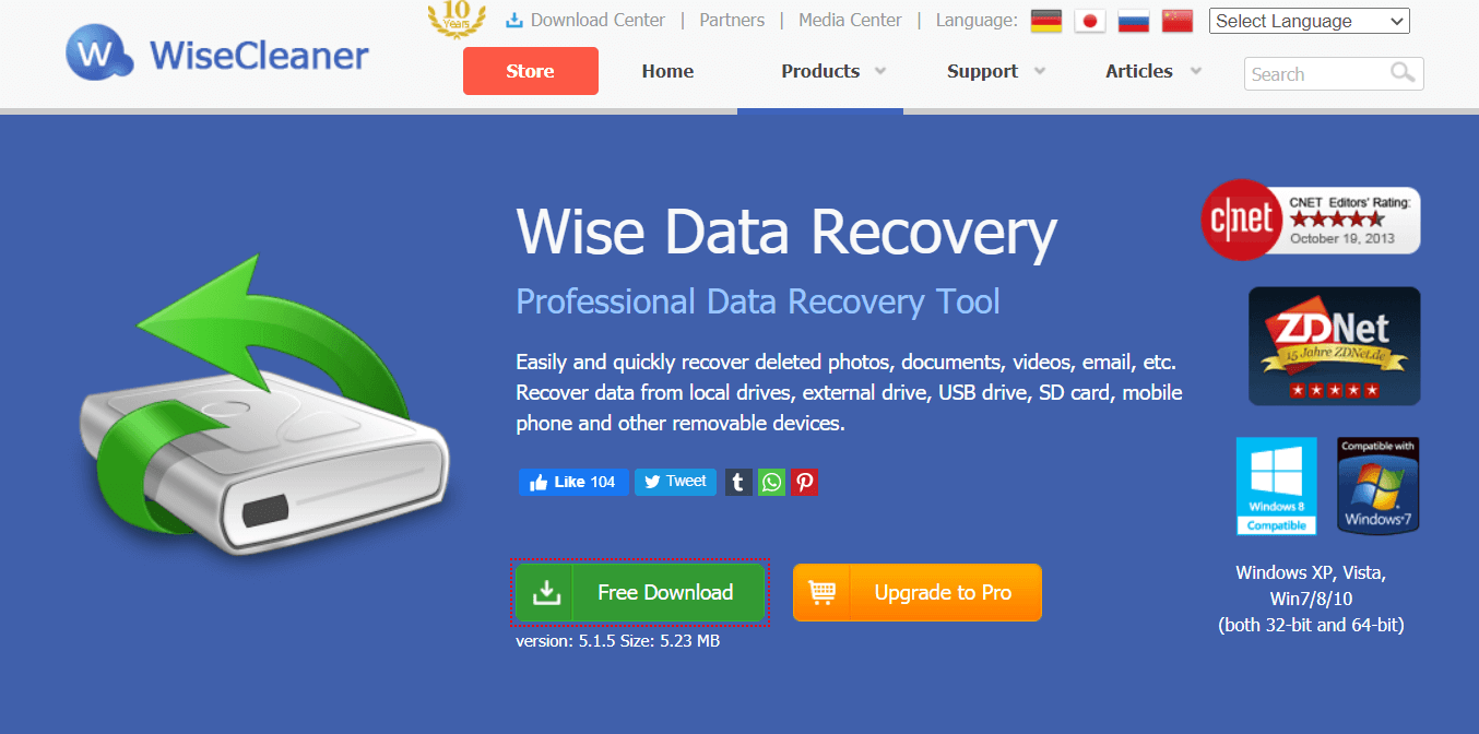 Wise Data Recovery Software
