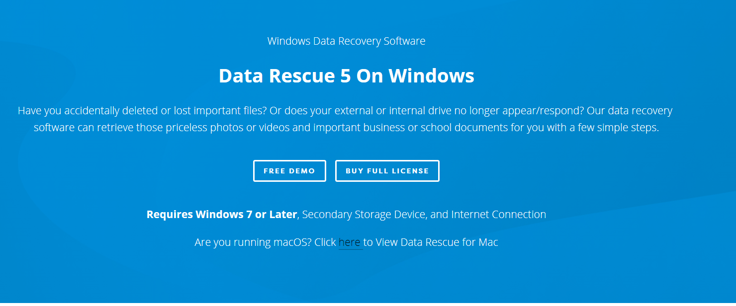 Data Rescue 5 - Windows Data Recovery Software