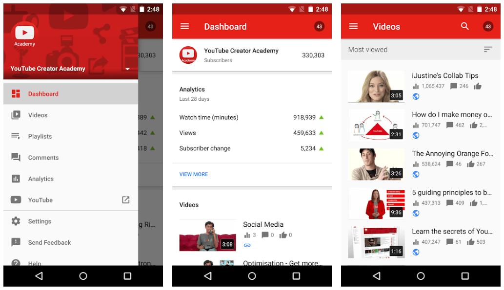 Youtube Studio - Best App For Marketing