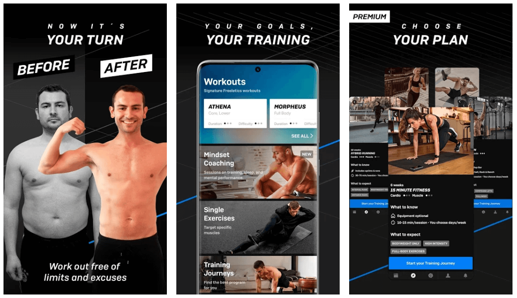 Freeletics - Workout & Fitness Body Weight App