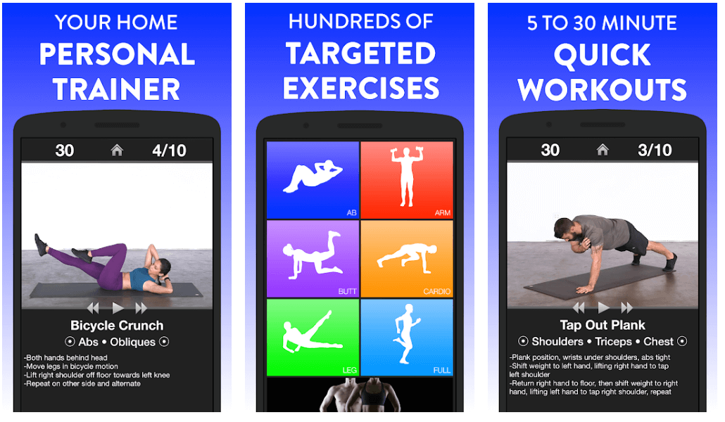 Daily Workouts - Exercise Fitness Workout Trainer