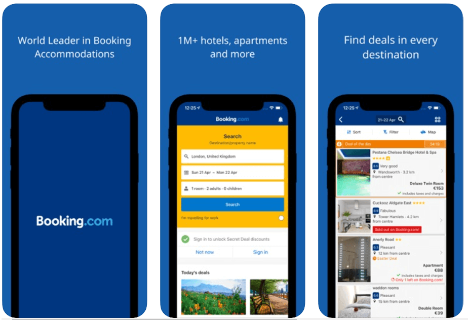 Booking.com - Best Travelling Apps For Android and iOS