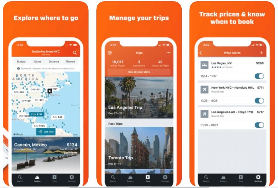 Kayak - Best Travel Planner Apps