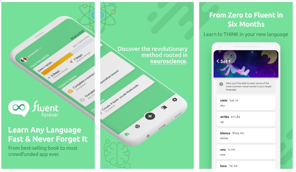 Fluent Forever - Best Educational App For Android