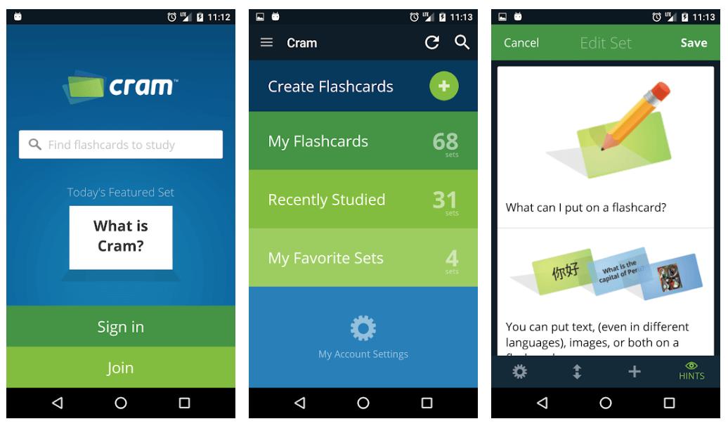 Cram.com Flashcards - Best Educational Apps