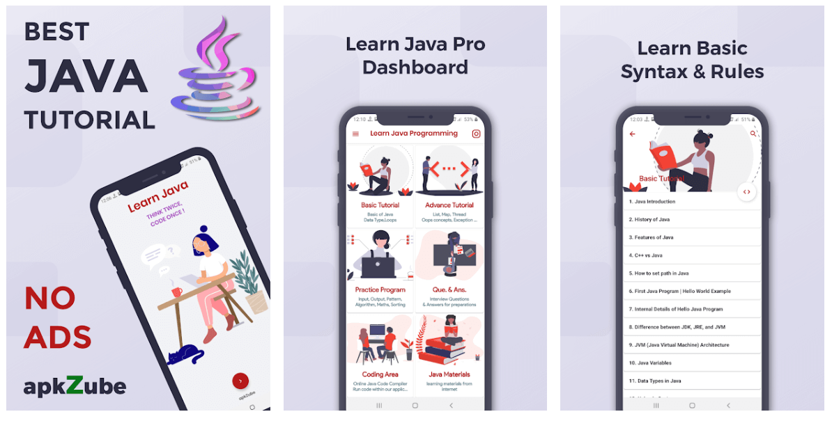 Learn Java Pro - Best Educational Apps For Android Smartphone