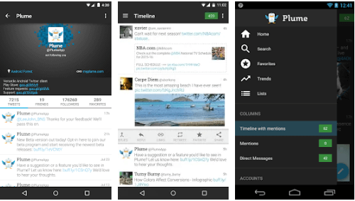 Plume - Best Twitter Apps for Android Smartphones