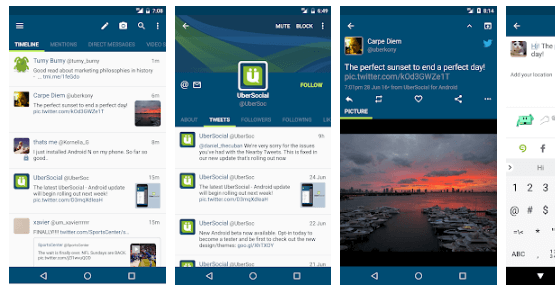 Ubersocial - Best Twitter Apps for Android