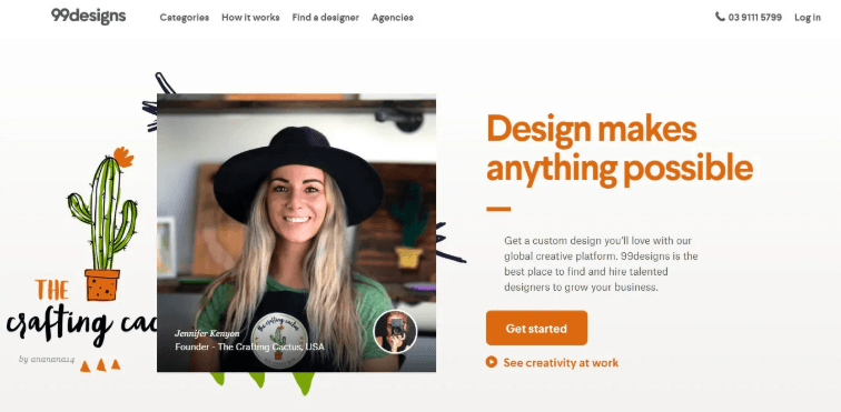 99Designs - Best Alternative Sites Like 'Upwork'