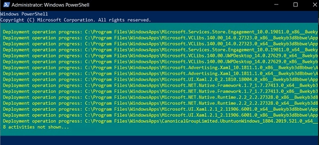 Execute Commands on Powershell