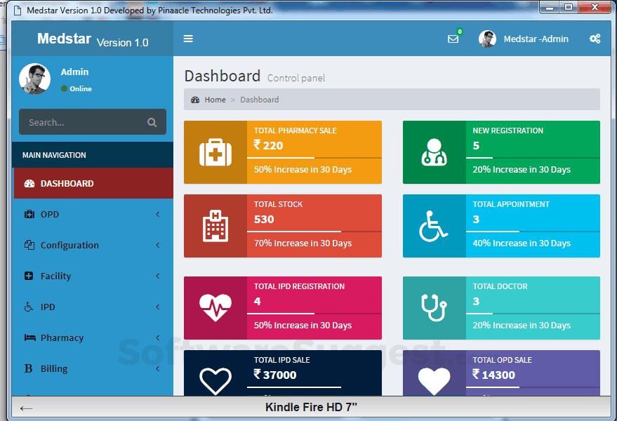 MedStar HIS Management Software For Healthcare Industry