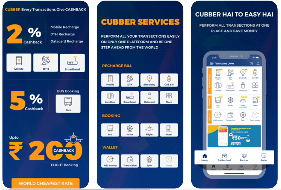 Cubber Free Recharge App