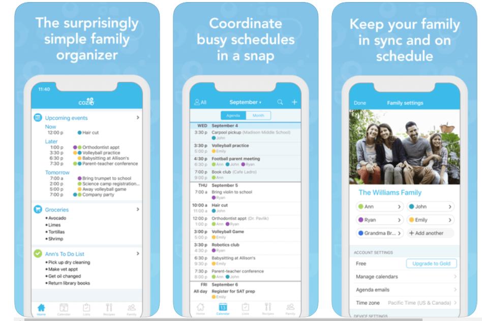 Cozi - Meal Planning App
