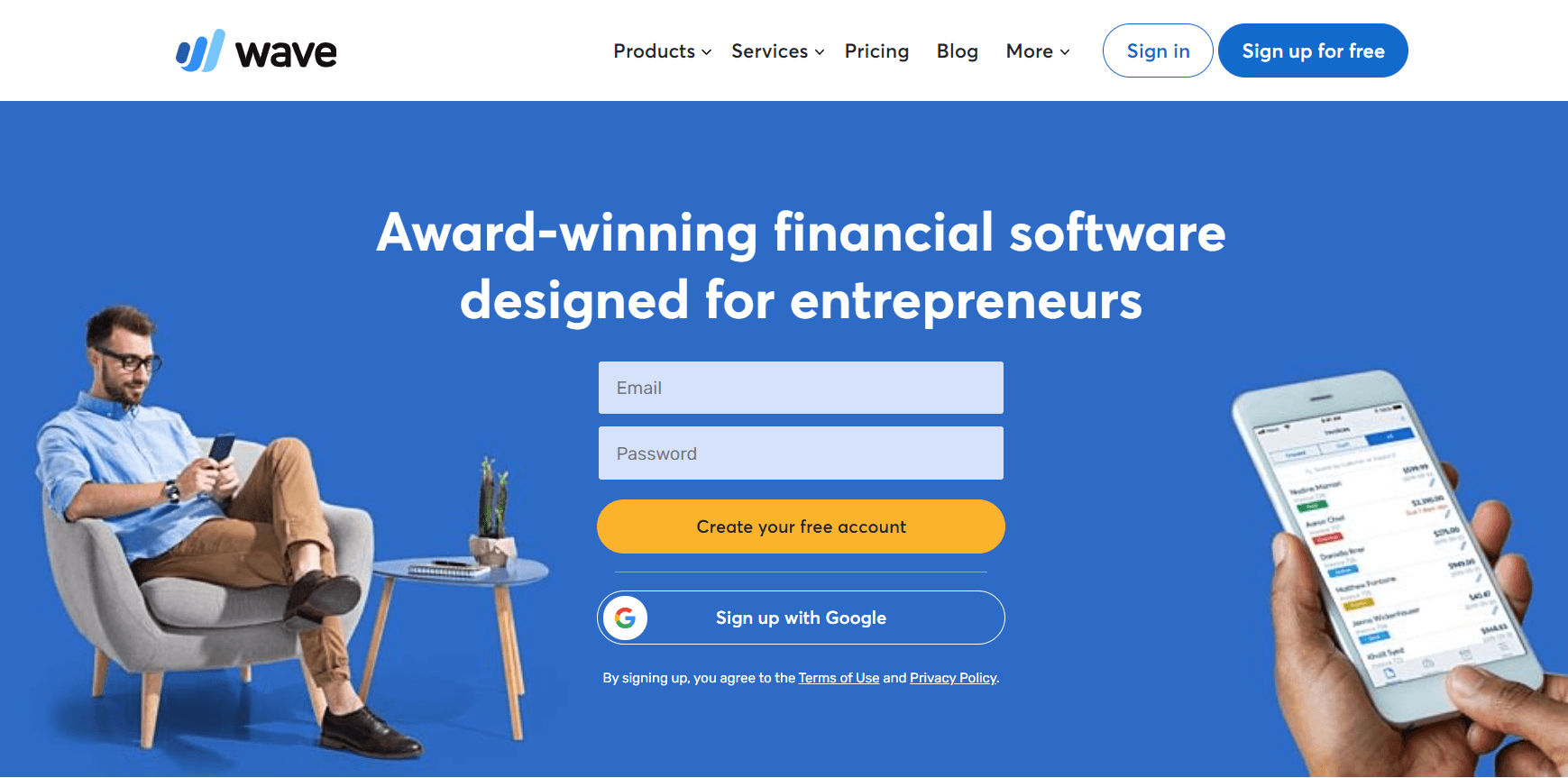 Wave - Best Cloud Based Invoice Software