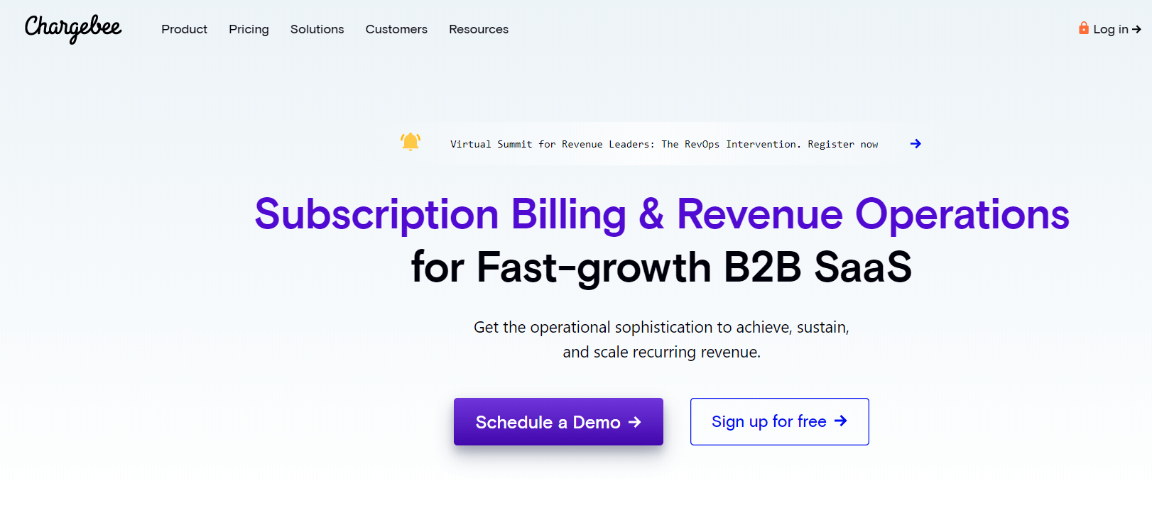 Chargebee - Best Invoice Software For Small Business