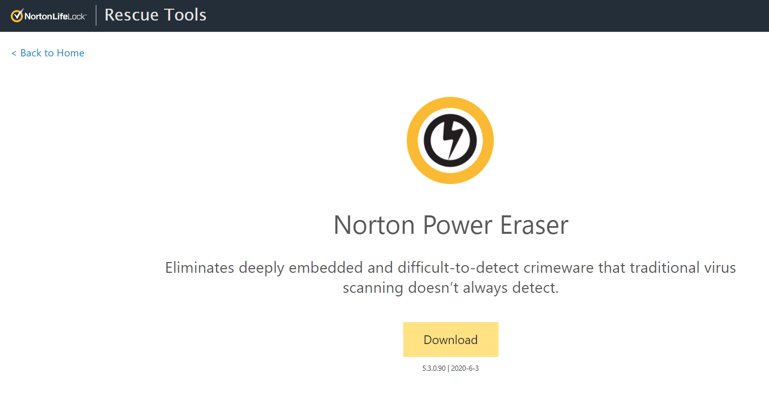 Norton Power Eraser - Best Windows Adware Remover
