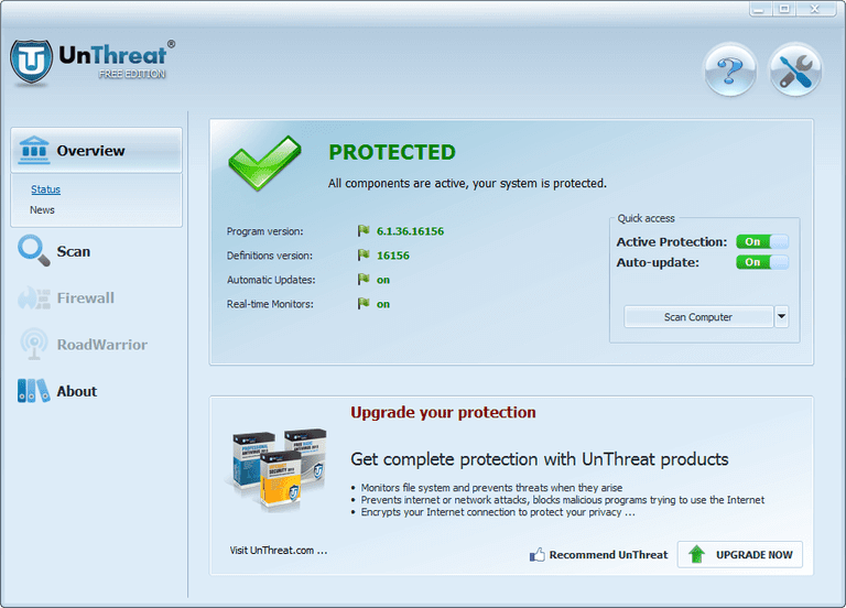 Unthreat Free Antivirus - Best Adware Remover Software