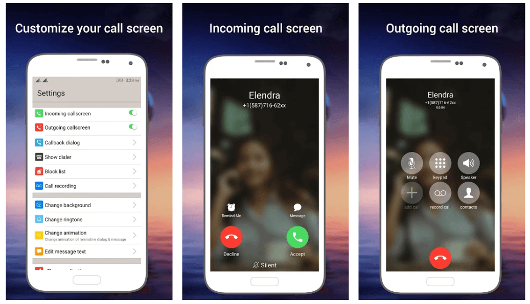 Phone X Full i Call Screen With Dialer