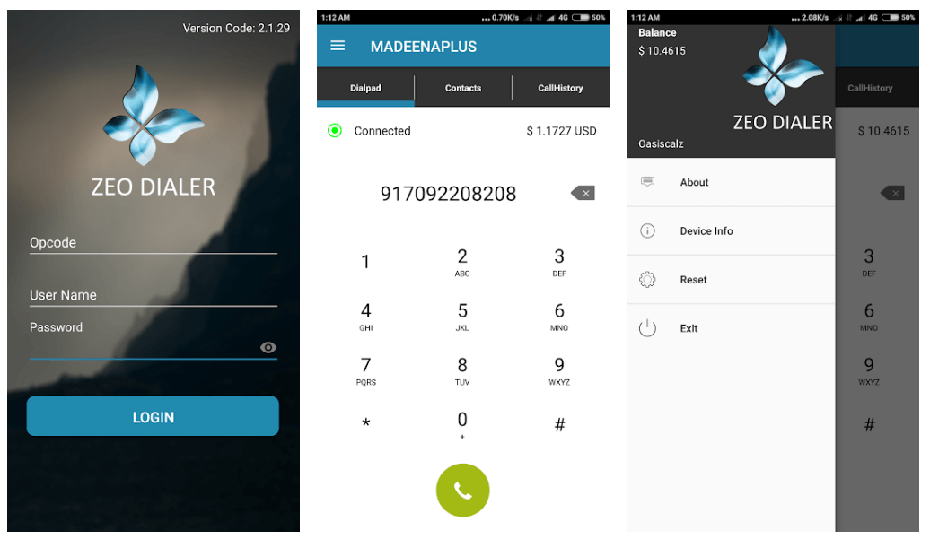 Zeo Dialer App For Android Smartphone