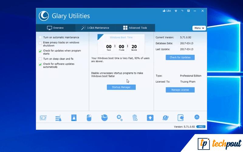 Glary Utilities Pro 5 - Best PC Optimization Tools