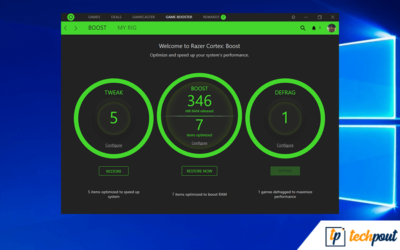 Razer Cortex PC Optimizer Software