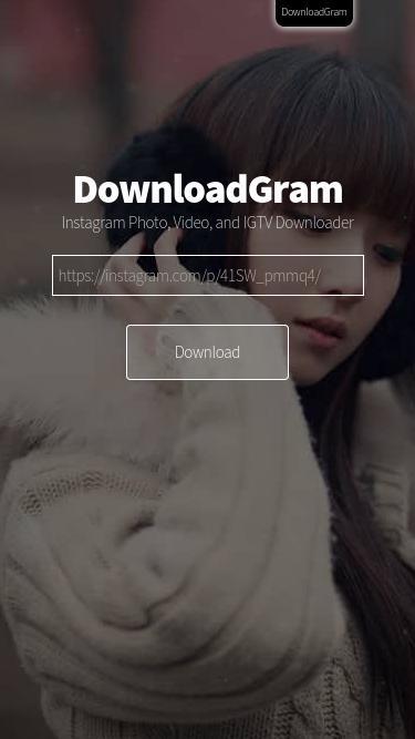 DownloadGram - Instagram Photo Downloader app for Web