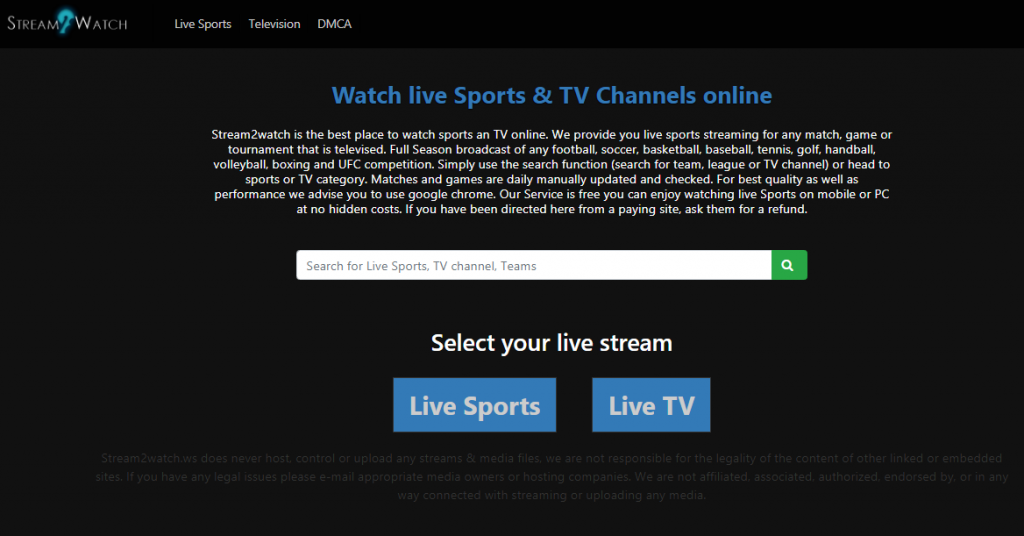 Stream to Watch - Best Free Sports Streaming Site