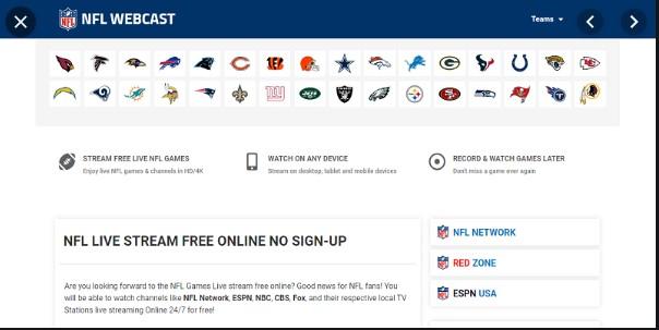 NFLWebCast - Best Live Streaming Site