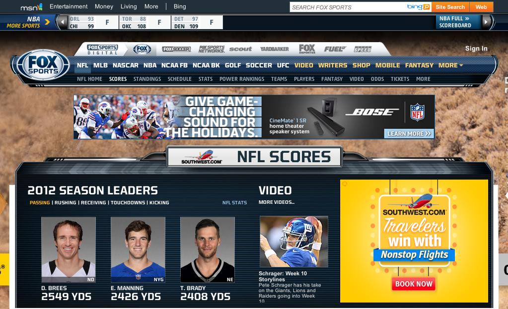 Fox Sports - Best Football Streaming Sites
