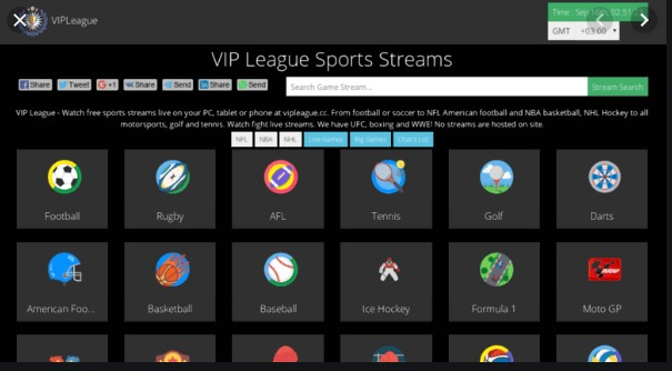 VIP League - Top Sports Streaming Site