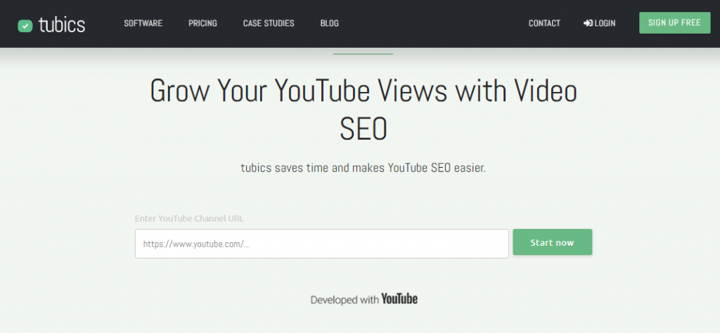Tubics - YouTube SEO Tool